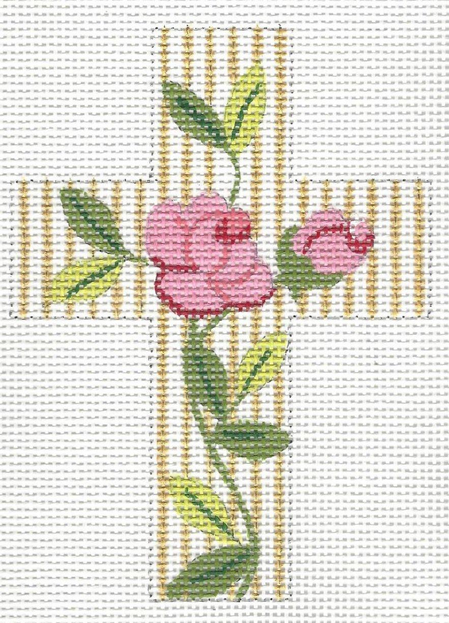 Pink Rose Cross
