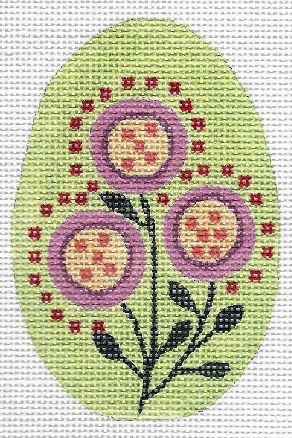 Button Flower Egg on Green