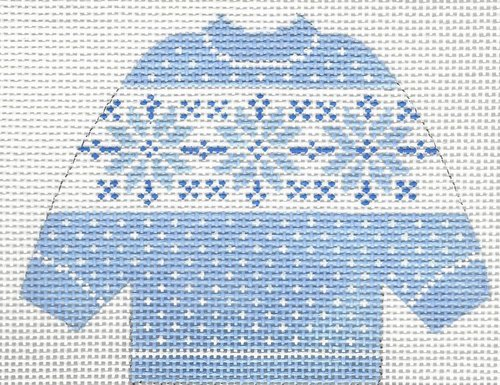 Pullover Sweater Blue Snowflake