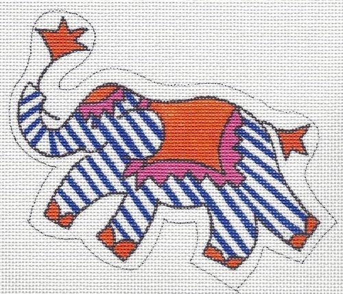 Mini Elephant Periwinkle & Orange & Pink