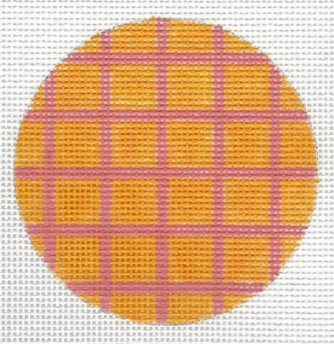 Bright Tangerine Grid Disk