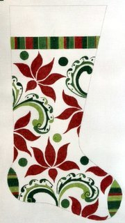 Modern Poinsettia Stocking