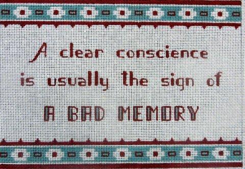 A Clear Conscience...