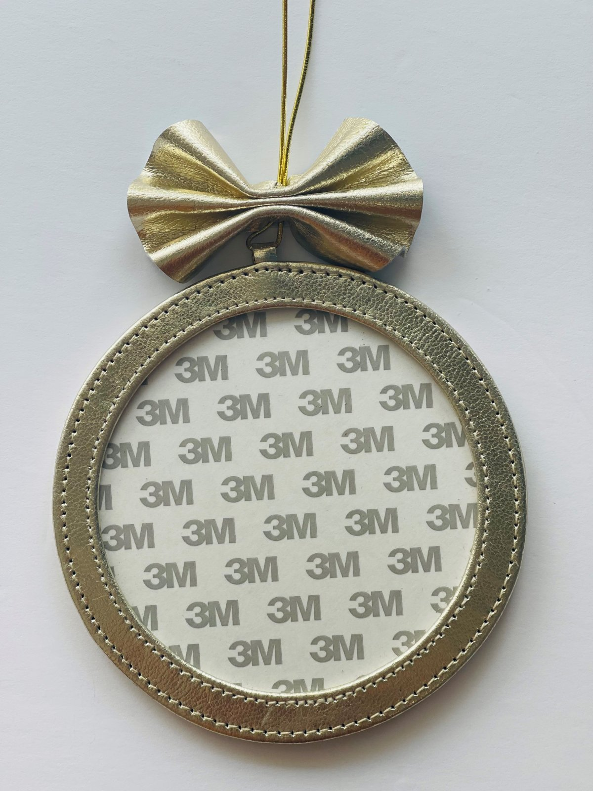 5 Round Holiday Ornament - Gold Foil