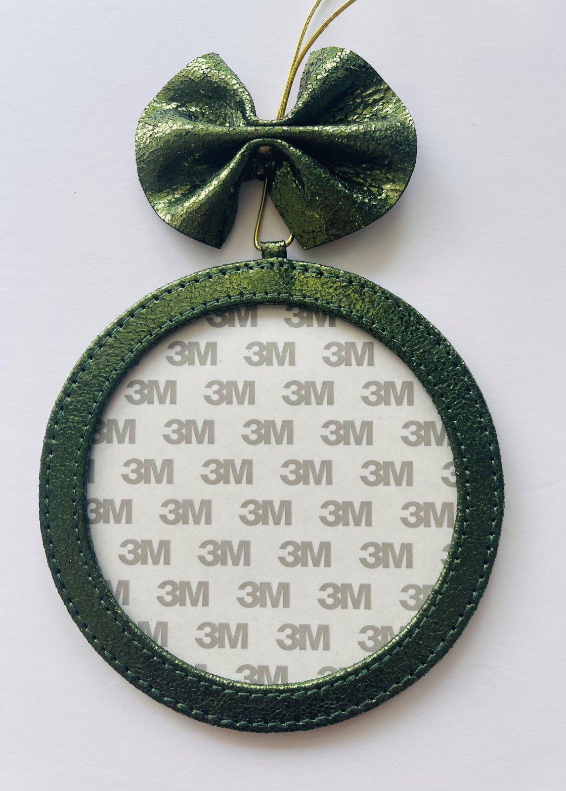 5 Round Holiday Ornament - Fern Foil