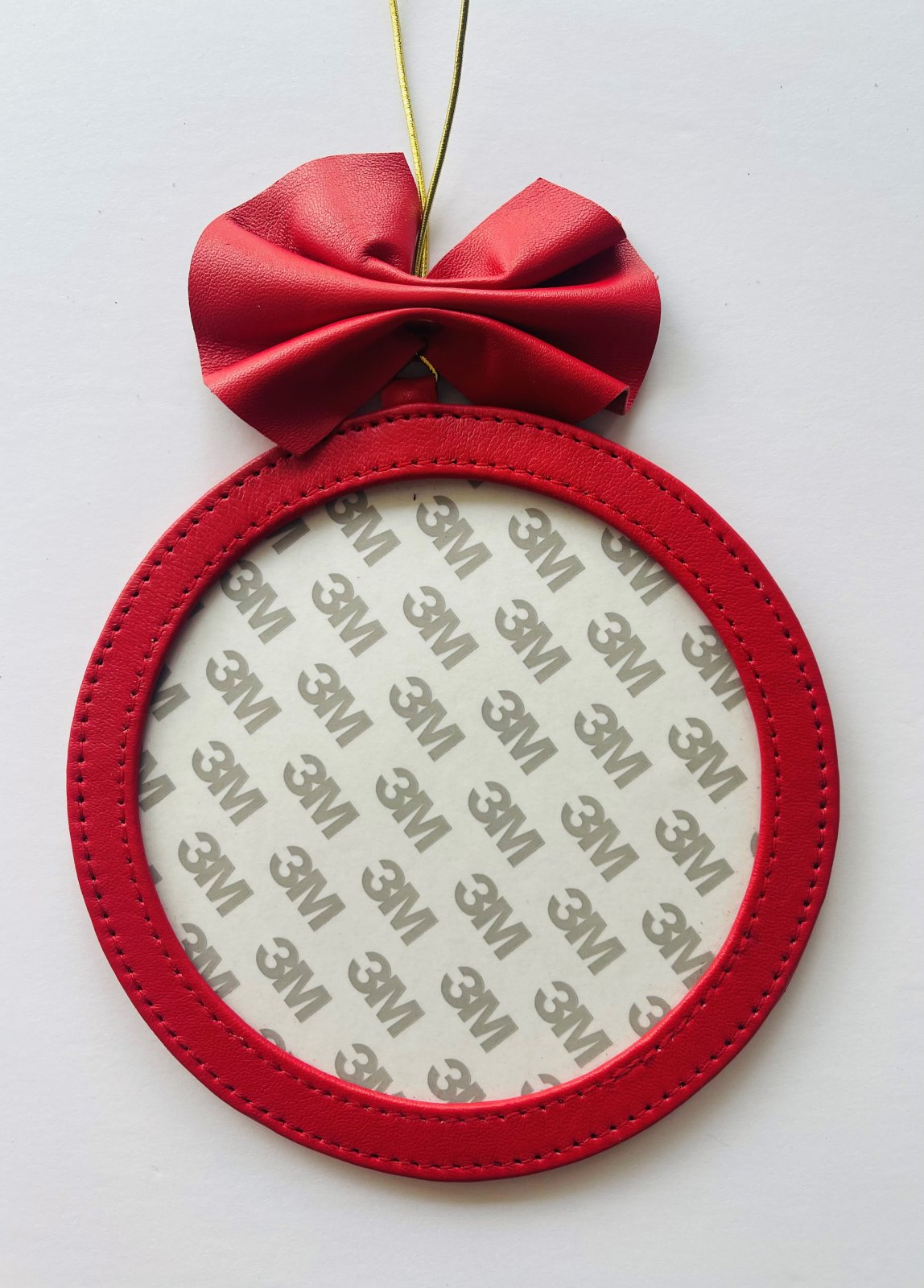 5 Round Holiday Ornament - Red