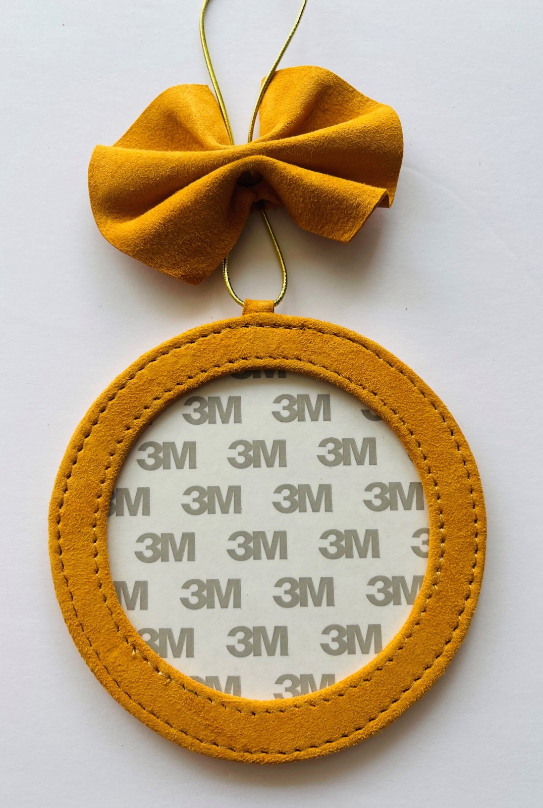 4 Round Holiday Ornament - Mustand Suede