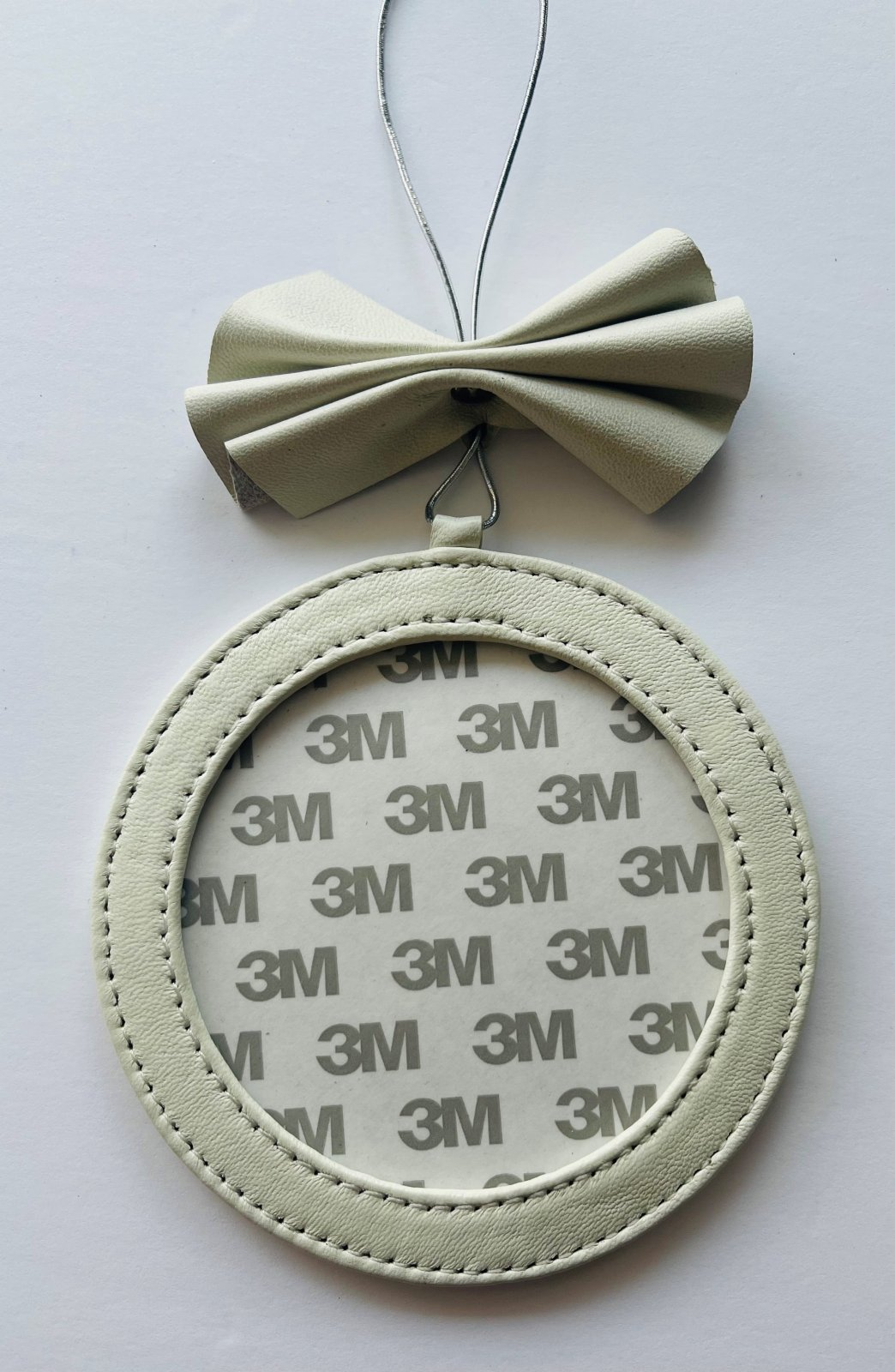 4 Round Holiday Ornament - Silver Foil