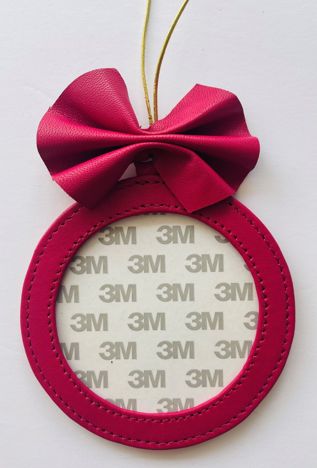 4 Round Holiday Ornament - Hot Pink