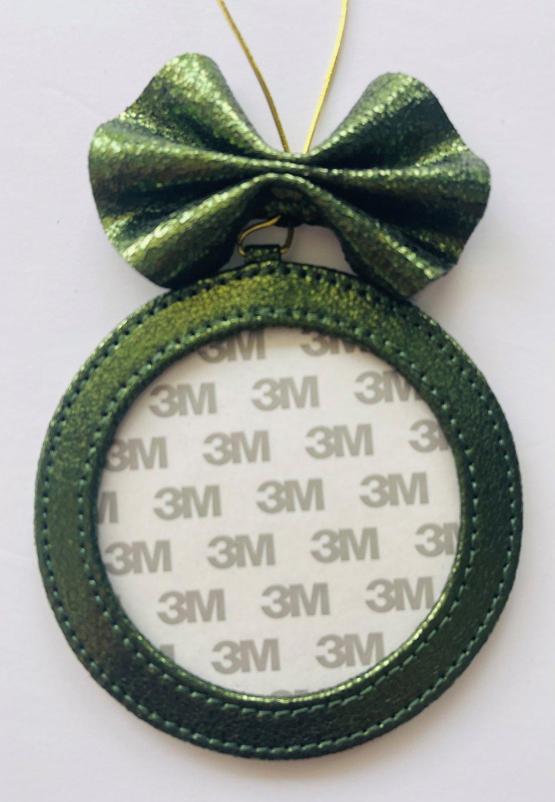 4 Round Holiday Ornament -  Fern Foil