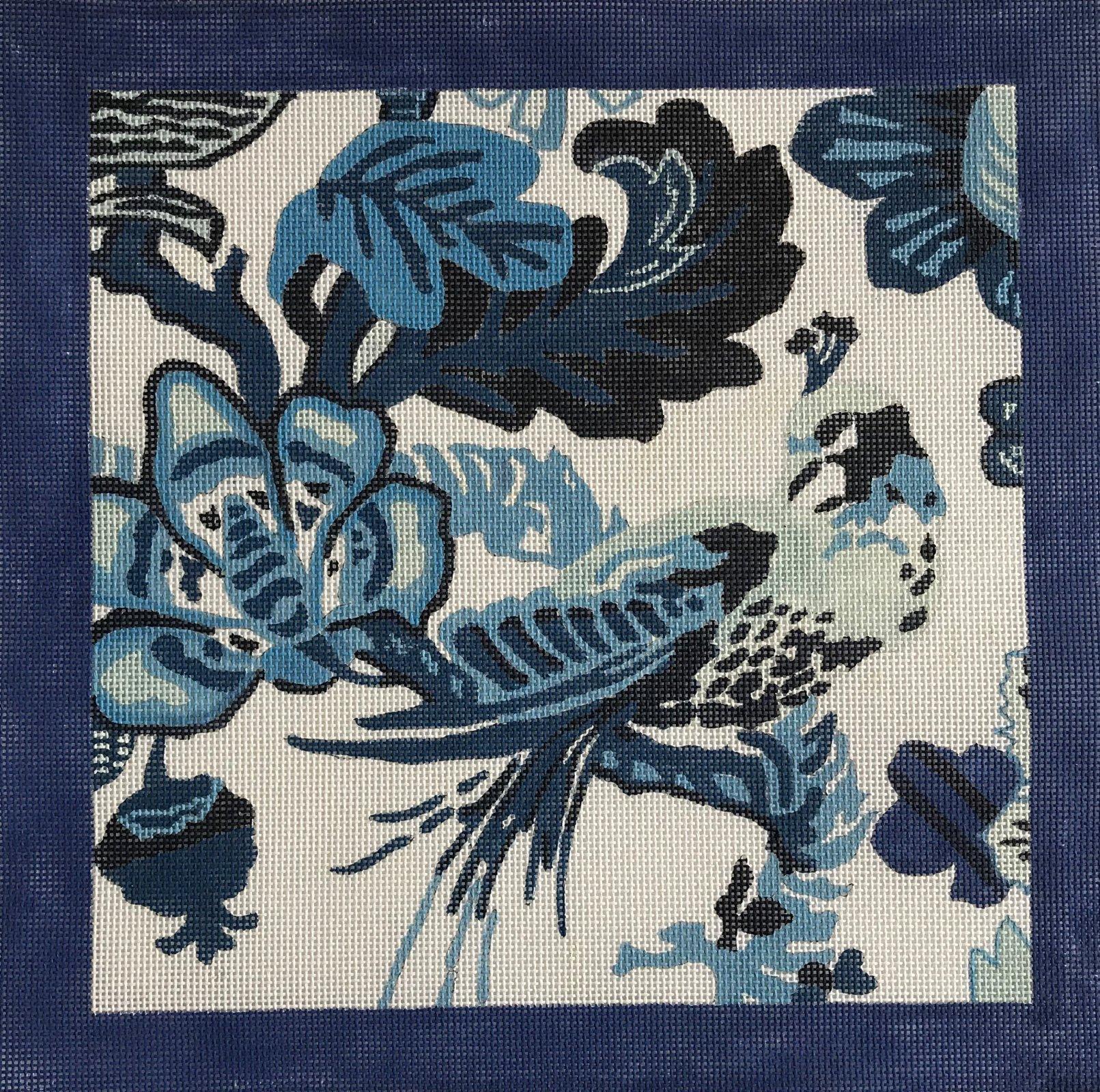 Blue Bird with Blue Border