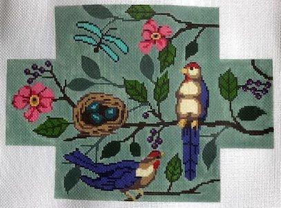 Bird Blue Brick