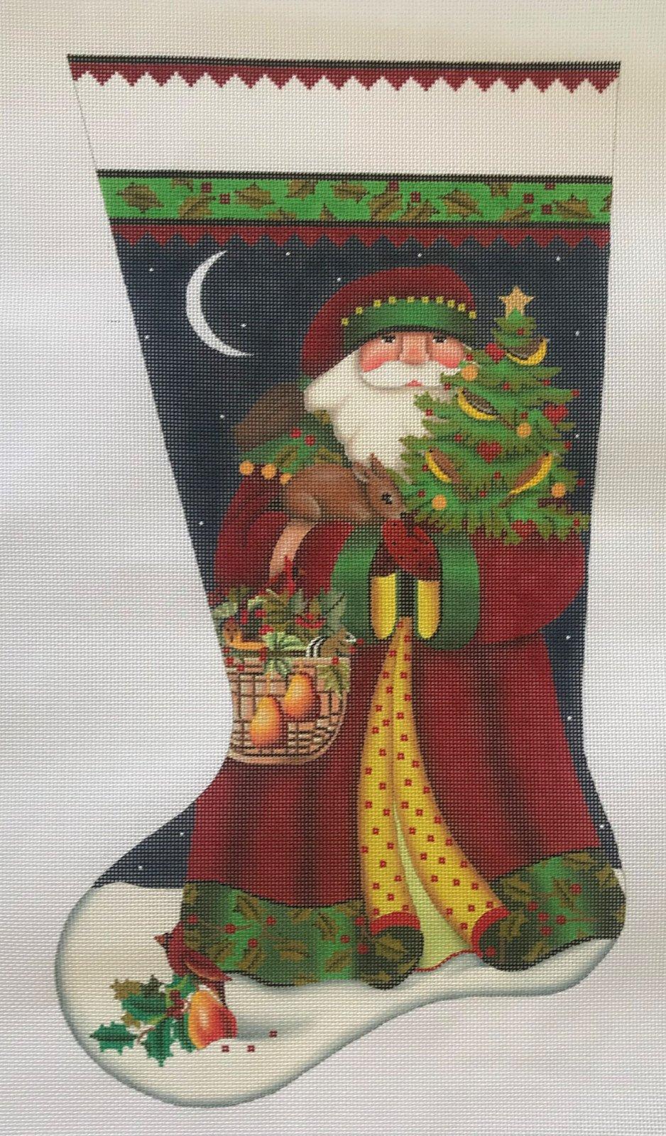 Forest Santa Stocking