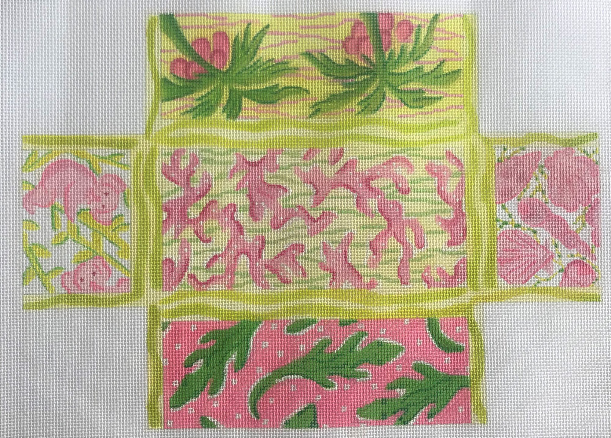 Brick - Lily inspired patchwork - pinks & greens