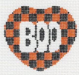Boo with Orange & Black Heart