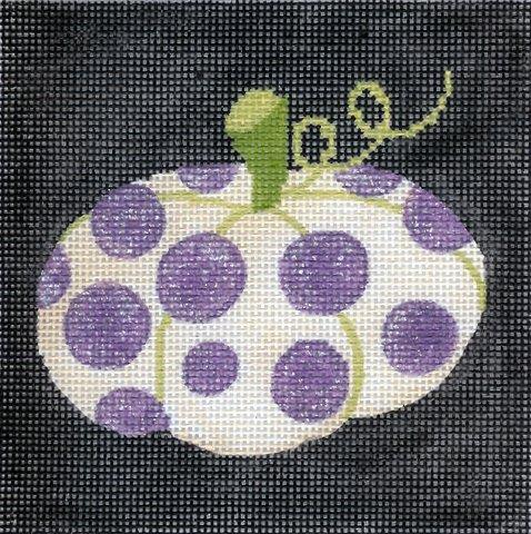 Purple Polka Dot Pumpkin