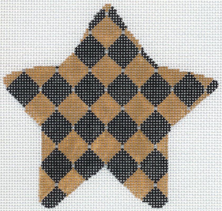 Harlequin Burlap Star