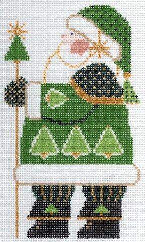 Green Folk Santa