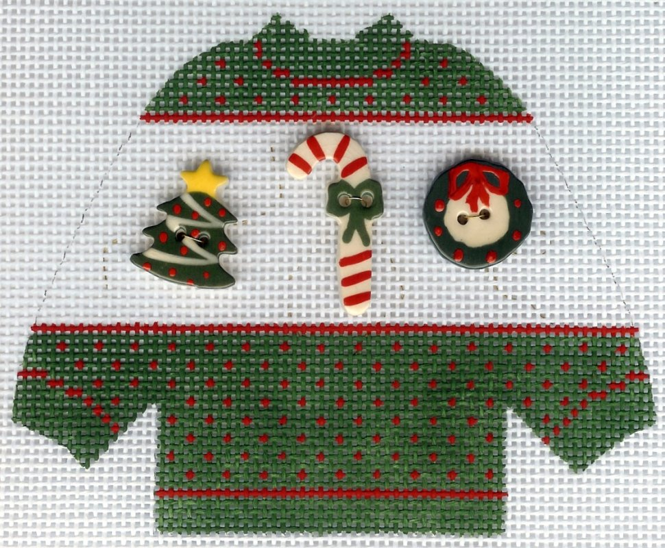 Pullover Sweater Christmas Buttons