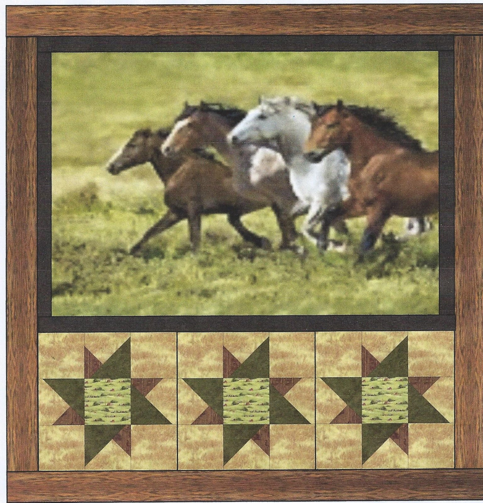 WORFQK1 Wide Open Spaces Quilt Kit 53 x 62