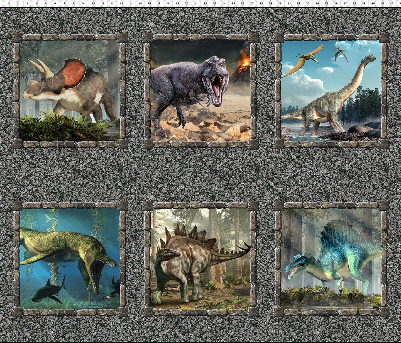 2JUR1 Small Dinosaur Multi 1yd Panel