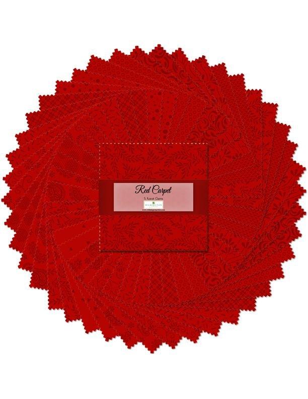 507 32 507 Red Carpet 5 Inch Squares 42 pcs.