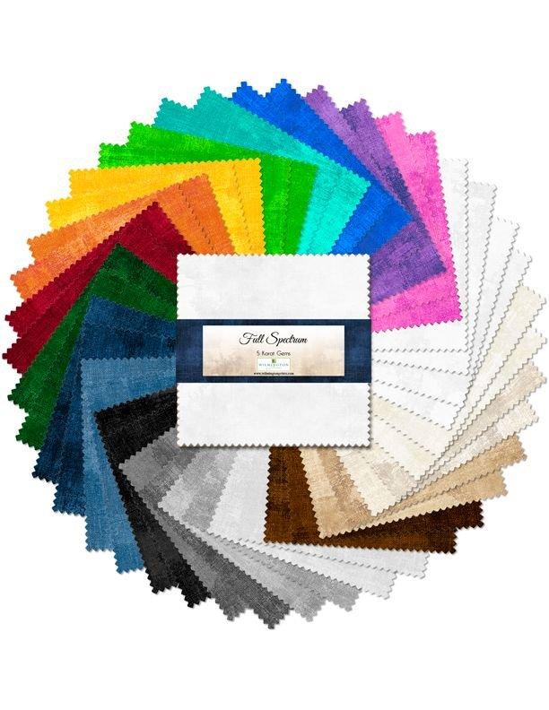 507 45 507  Full Spectrum 5 inch squares, 42 per pack,