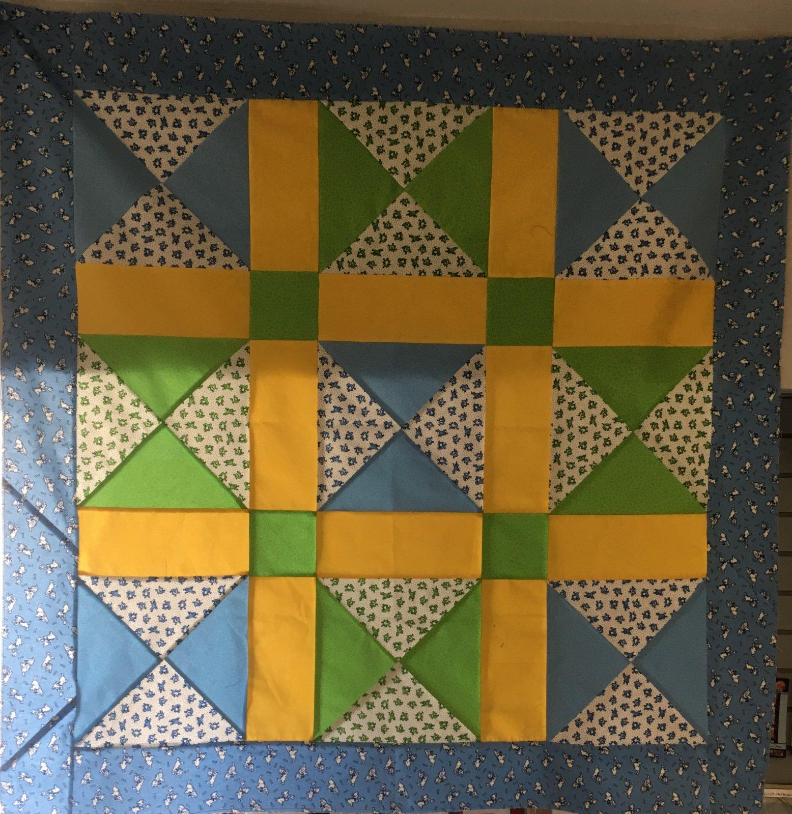 Criss Cross Flannel Boys Quilt Kit 44 x 44