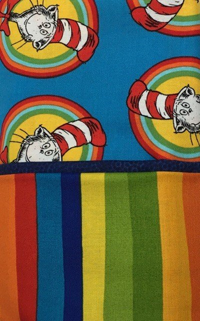 CCAT-CIRCLE Celebration The Cat In The Hat Medium Blue Pillowcase Kit / Pattern That Easy Pillowcase not Included / Standard Size