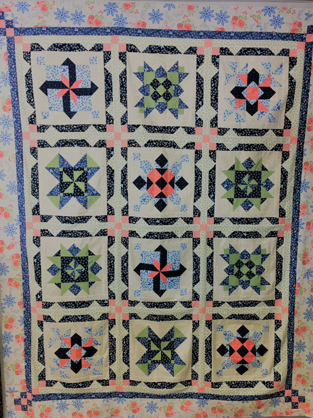 CMBQK1 Count My Blessings Block of the Month 6mos. 59 1/2 x 75 1/4