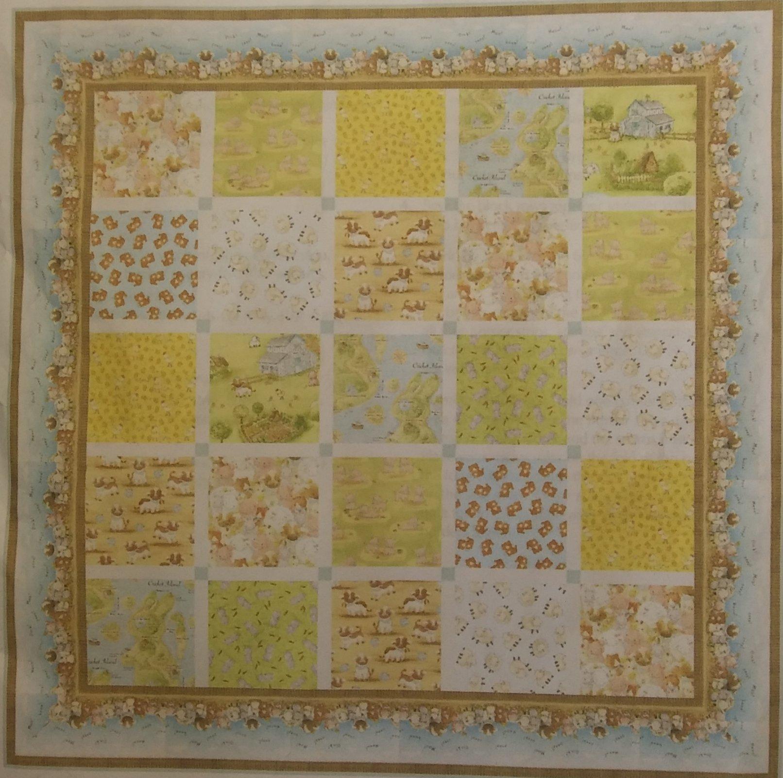 CTFQK1 Cotton Tale Farm Quilt Kit 56 1/2 x 56 1/2