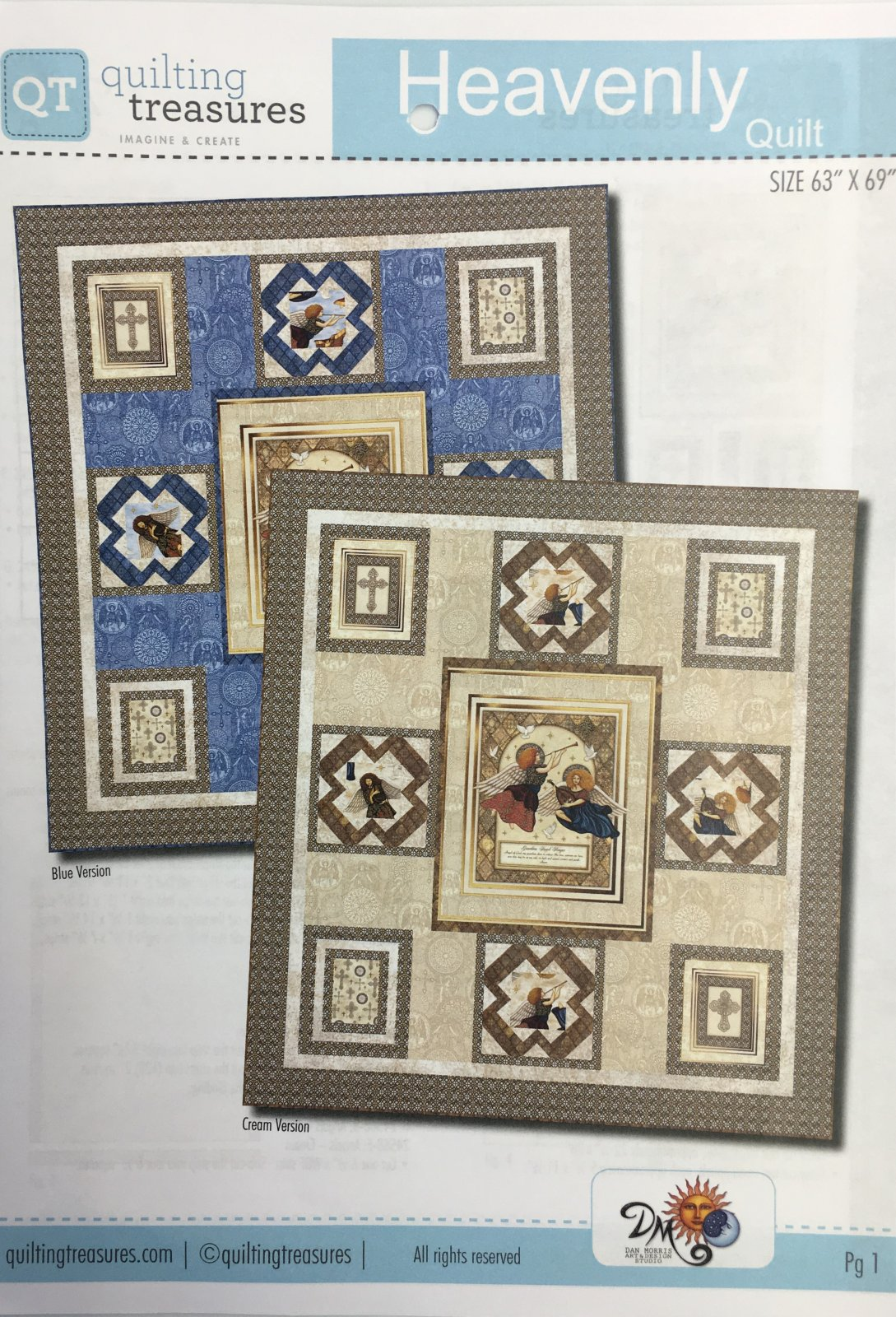 Heavenly Quilt Kit Blue 63 x 69