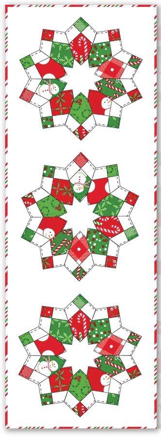 MABSTR-KIT Merry and Bright StarBurst Table Runner Kit 14 1/2  X 42 1/2