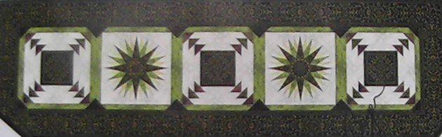 Corsica Bed Runner Brown (Green) by Jinny Beyer  23 1/2 x 79 1/2