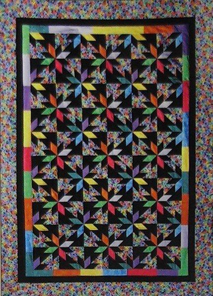 Confetti Stars Quilt Kit   60 x 88