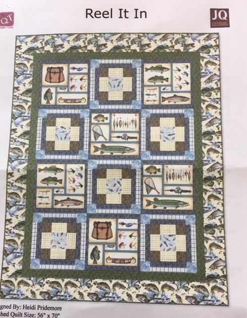 RIIKIT1 Reel It In Quilt Kit 56 x 70
