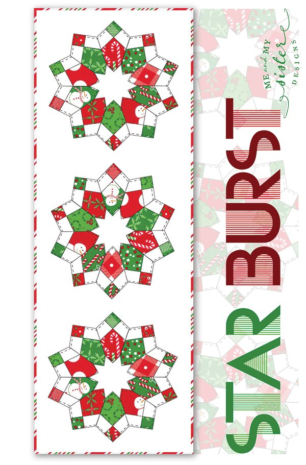 PTMMS20200546 Star Burst Table Runner  Pattern 14 1/2  X 42 1/2