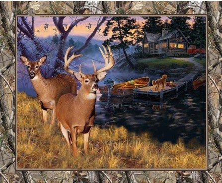 Lakeside Deer Panel