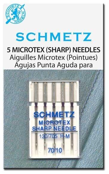 5 Microtex (Sharp) Needles 80/12