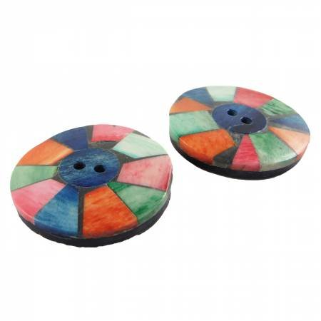 34mm Multicolored Round buttons