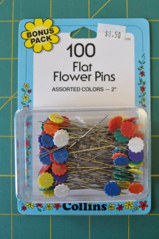 Flat Flower Pins