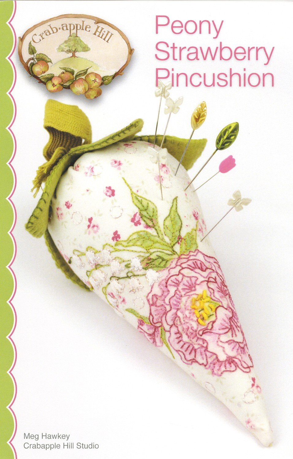 Peony Strawberry Pincushion