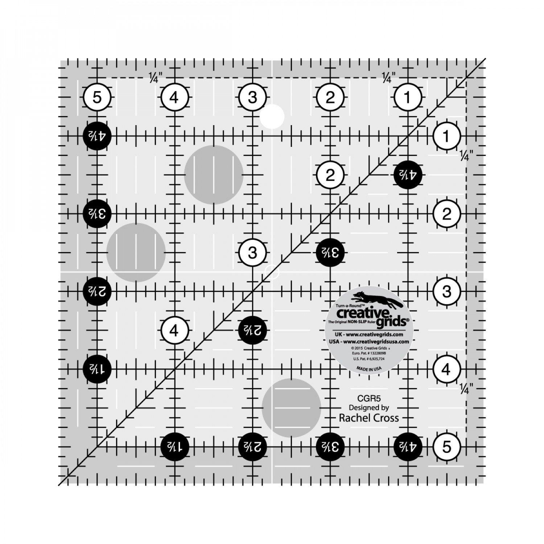5 1/2 X 5 1/2 Creative Grid Ruler