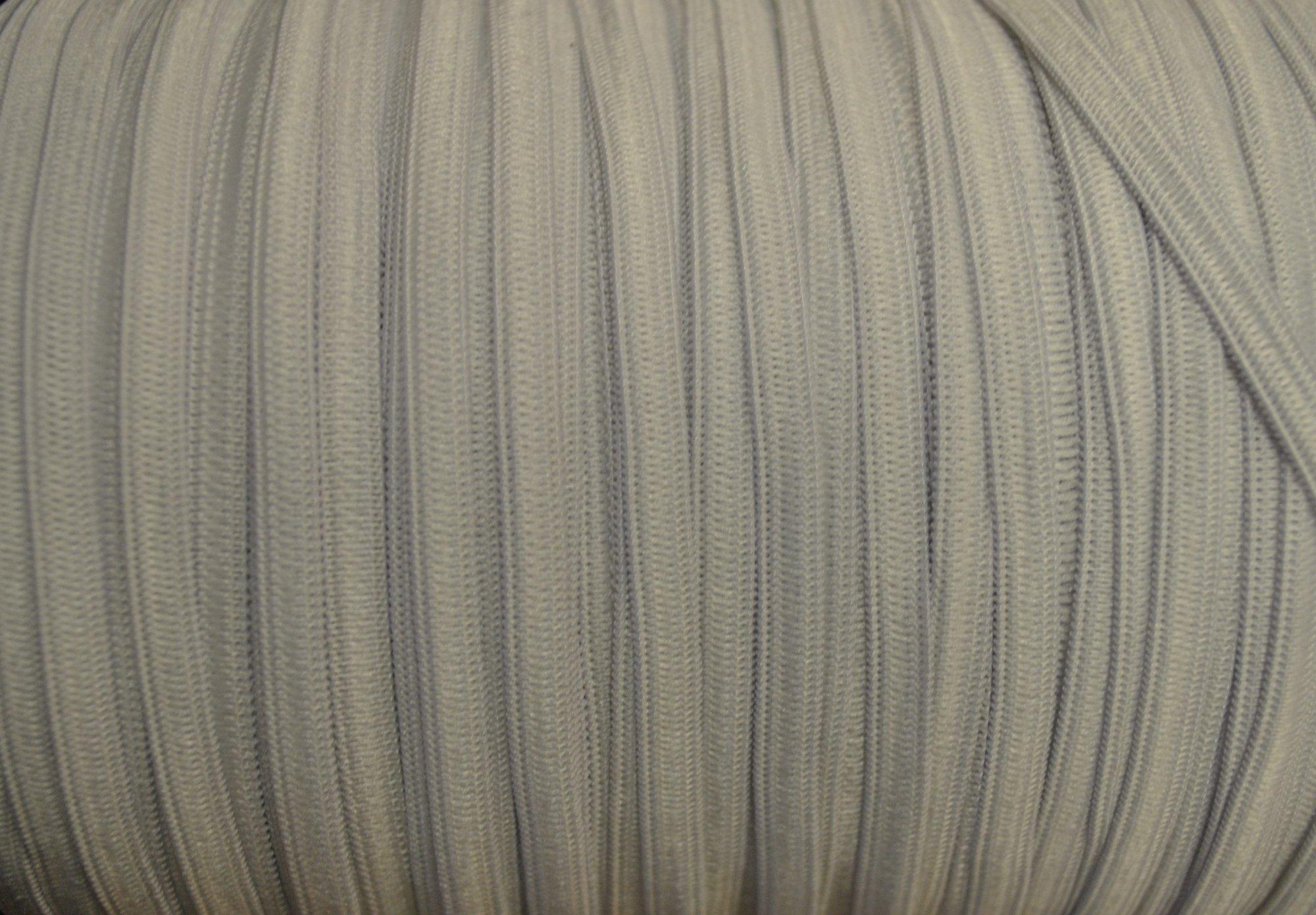 1/4 White Flat Elastic