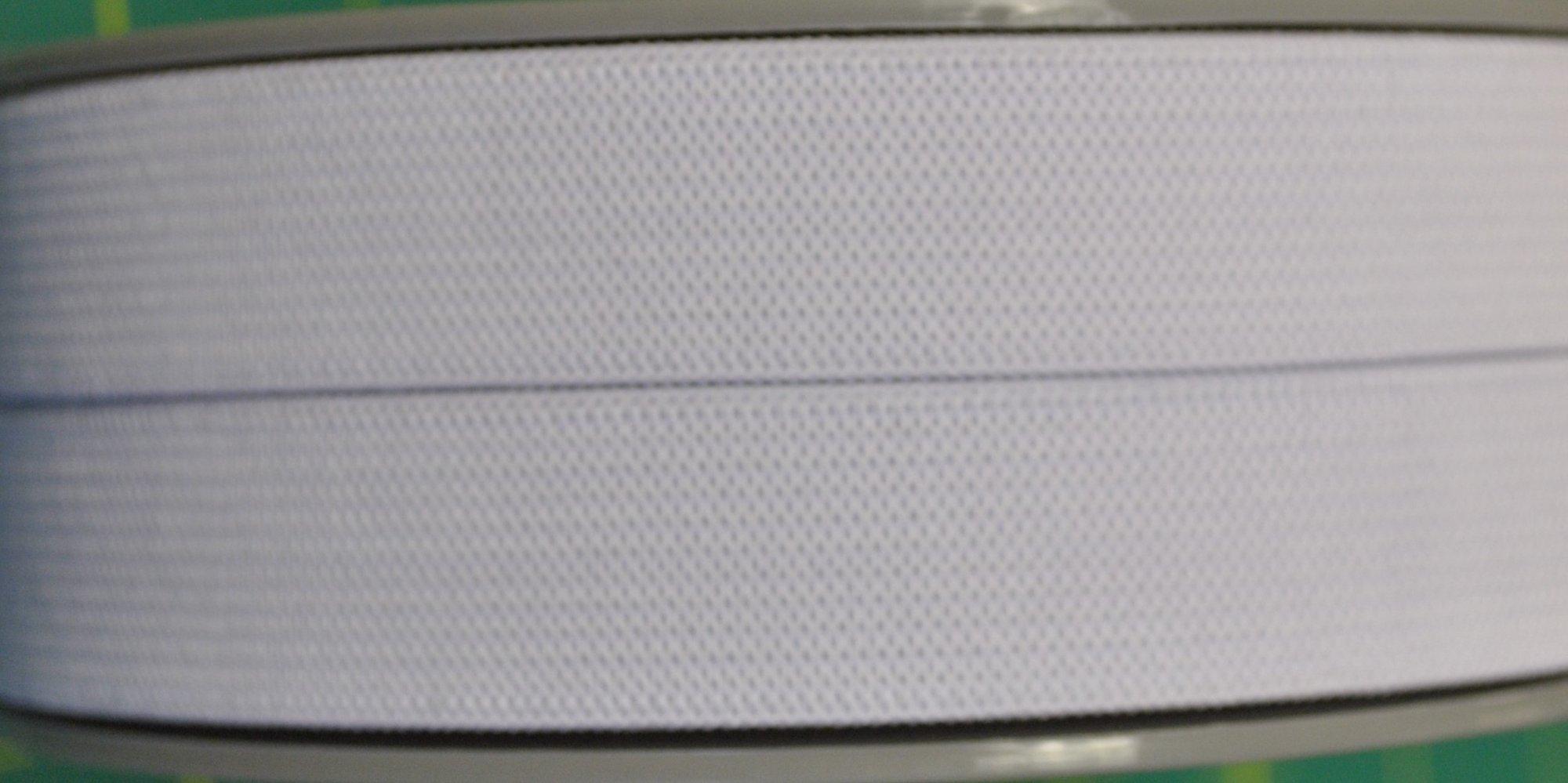 3/4 Flat Elastic, white