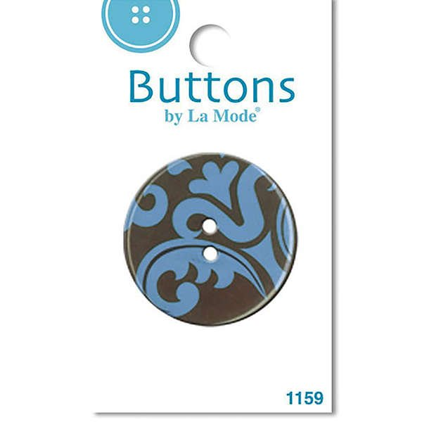 Damask 38 button