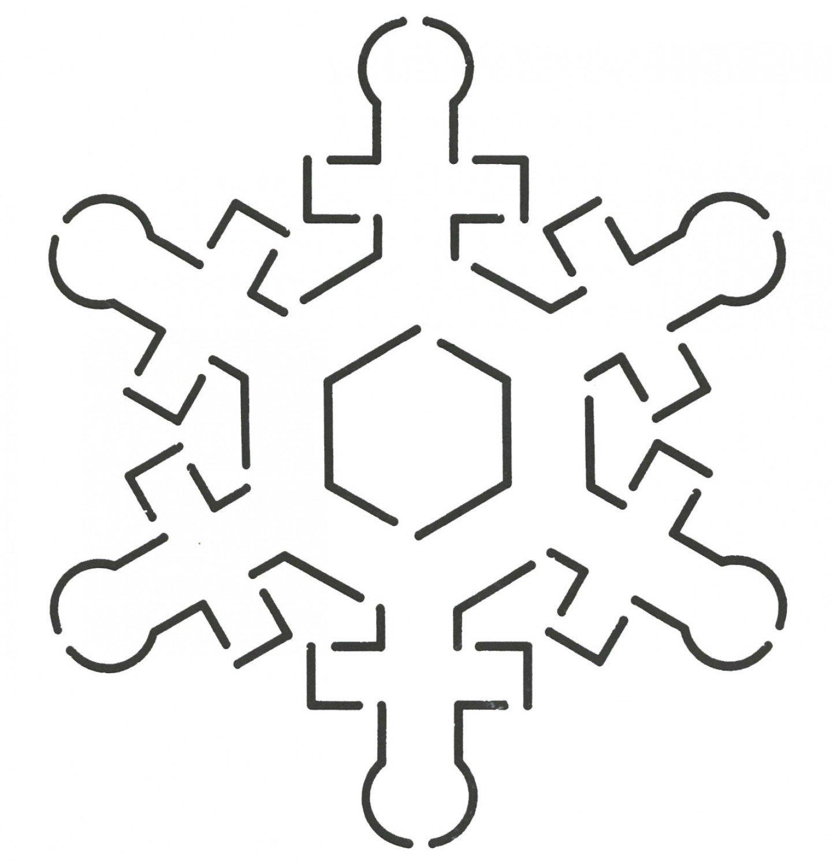 Snowflake stencil 4 3/4 x 5 1/4