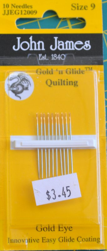 Gold N Glide Size 9 quilting