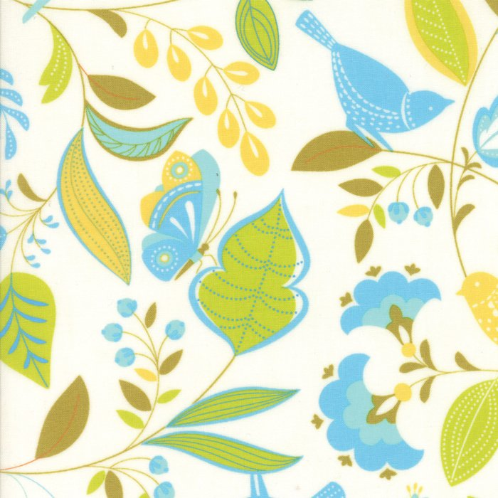 Wing and Leaf by Gina Martin - White - Moda 10060 21