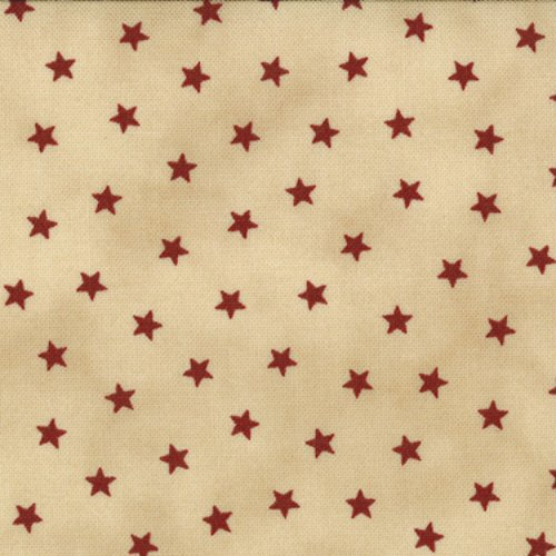 Primitive Gatherings Favorite by Primitive Gatherings - Reproduction - Natural - Red Star  - Moda 1074 12FQ - Fat Quarter